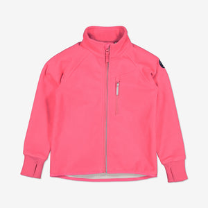 Kids Waterproof Fleece Jacket-9m-10y-Pink-Girl