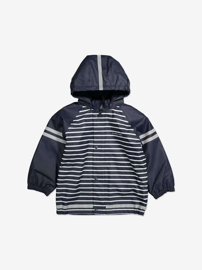 Fleece Lined Waterproof Kids Raincoat-1-8y-Navy-Boy