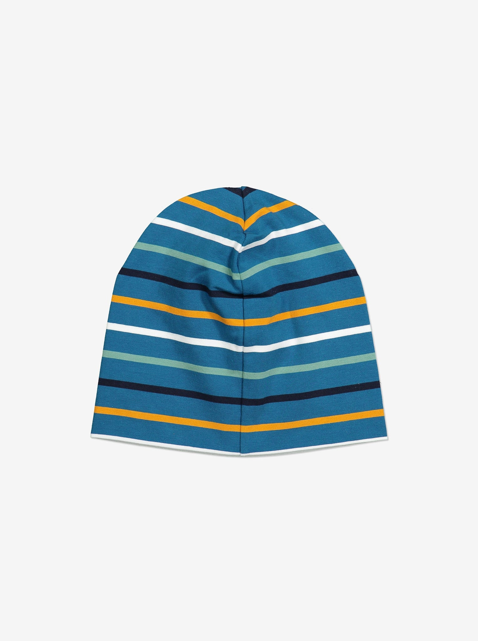 Striped Kids Beanie Hat-9m-12y-Blue-Boy