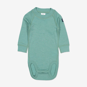 Thermal Merino Baby Bodysuit-0-2y-Blue-Boy