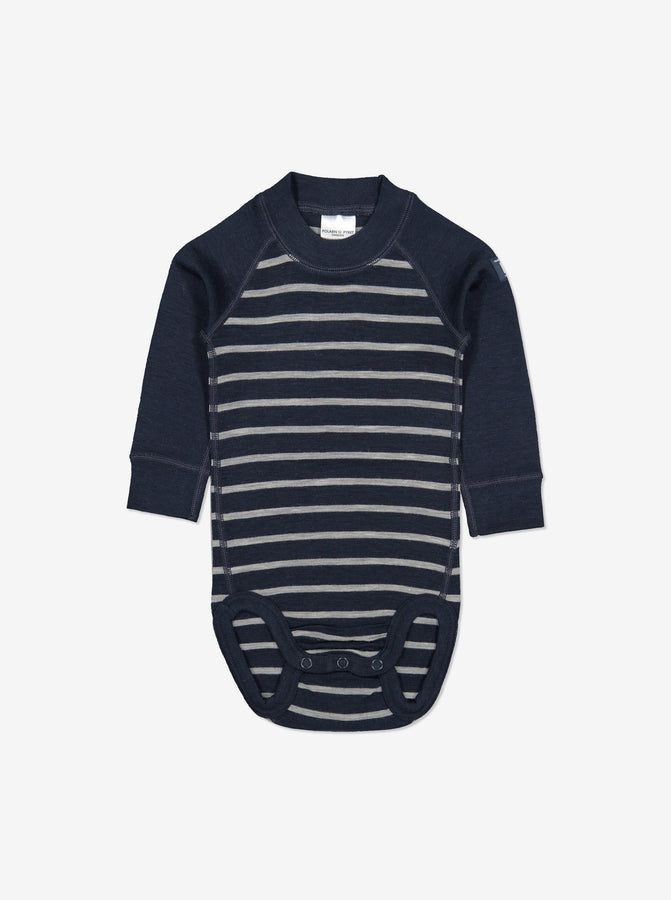 Thermal Merino Baby Bodysuit-0-2y-Navy-Boy