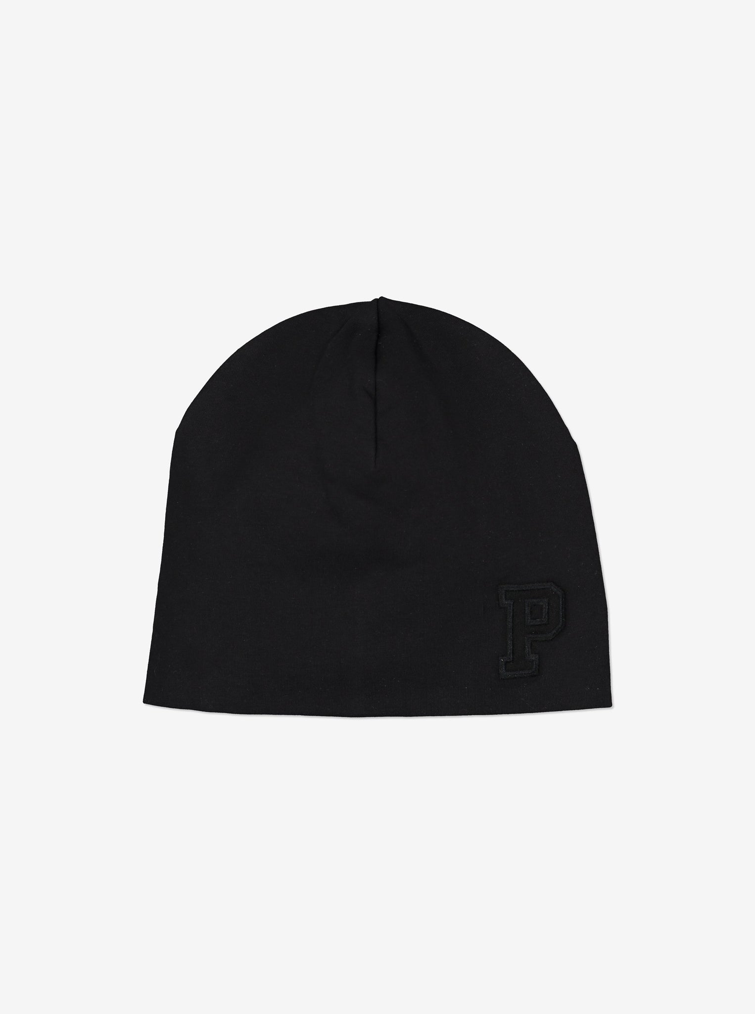Kids Organic Cotton Black Beanie Hat