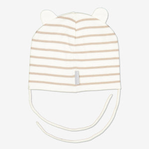 Embroidered Bear Kids Hat-1m-2y-Grey-Unisex