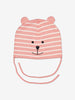 Embroidered Bear Kids Hat-1m-2y-Pink-Girl