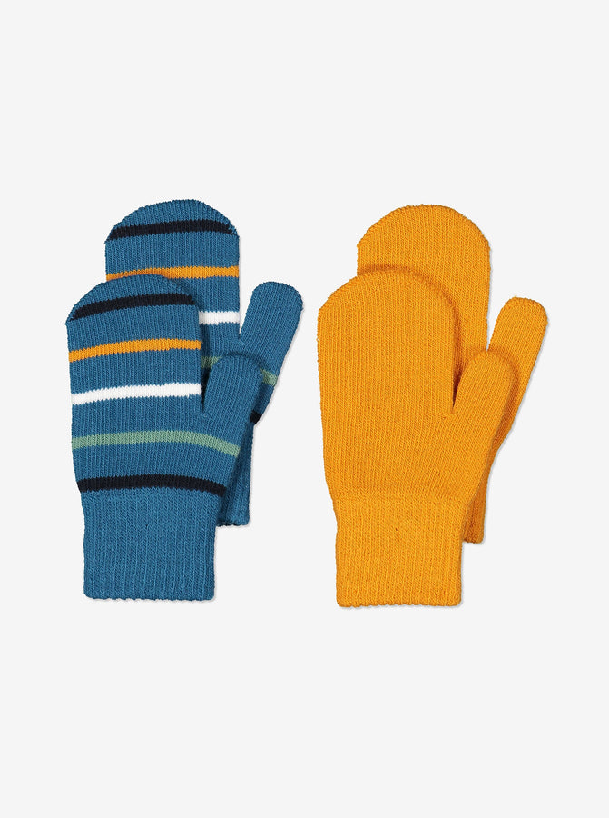 Two Pack Kids Magic Mittens-6m-4y-Blue-Boy
