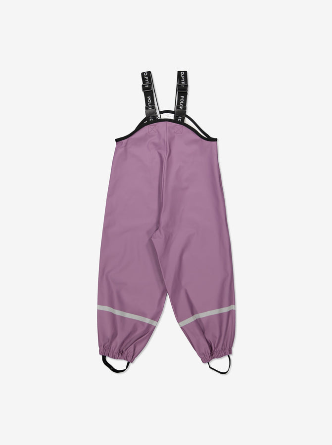 Kids Purple Rain Trousers