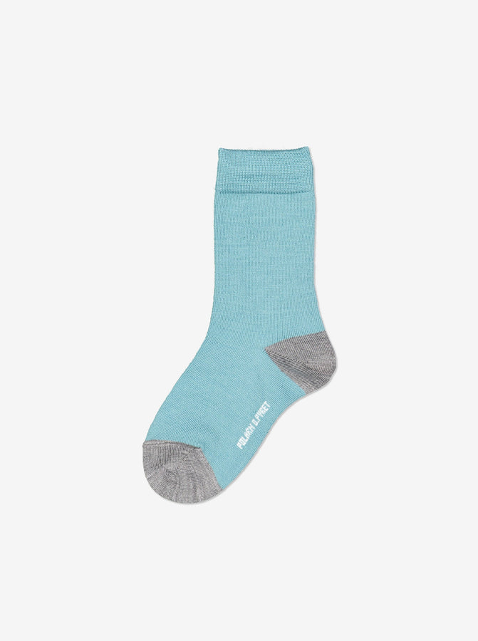 Merino Kids Socks-Unisex-4m-12y-Green