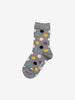 Polka Dot Merino Kids Socks-Unisex-4m-12y-Grey