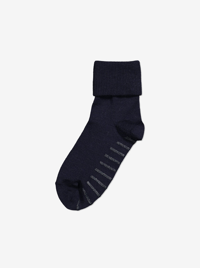 Merino Antislip Kids Socks-Unisex-0-6y-Navy