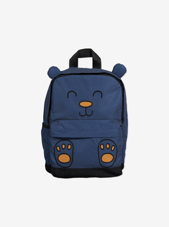 Kids Bear Backpack-Unisex-One Size-Blue