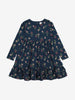 Floral Kids Dress-Girl-1-8y-Navy