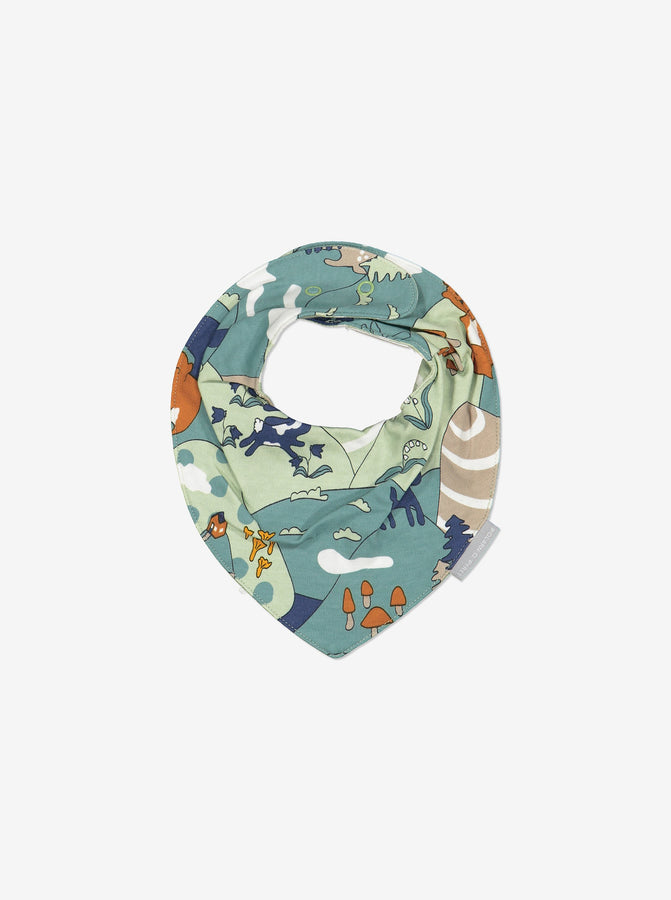 Nordic Forest Baby Bib-Unisex-One Size-Green