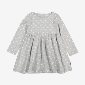 Polka Dot Kids Dress-Girl-1-6y-Grey