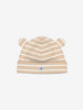 Striped Baby Beanie Hat-Unisex-Newborn-2y-Brown