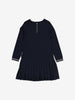 Pleated Skirt Kids Dress-Girl-1-6y-Navy