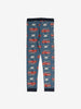 Vehicle Print Kids Cuffed  Leggings-Unisex-1-8y-Blue