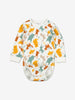 Nordic Animal Print Baby Bodysuit-Unisex-6m-1y-Natural