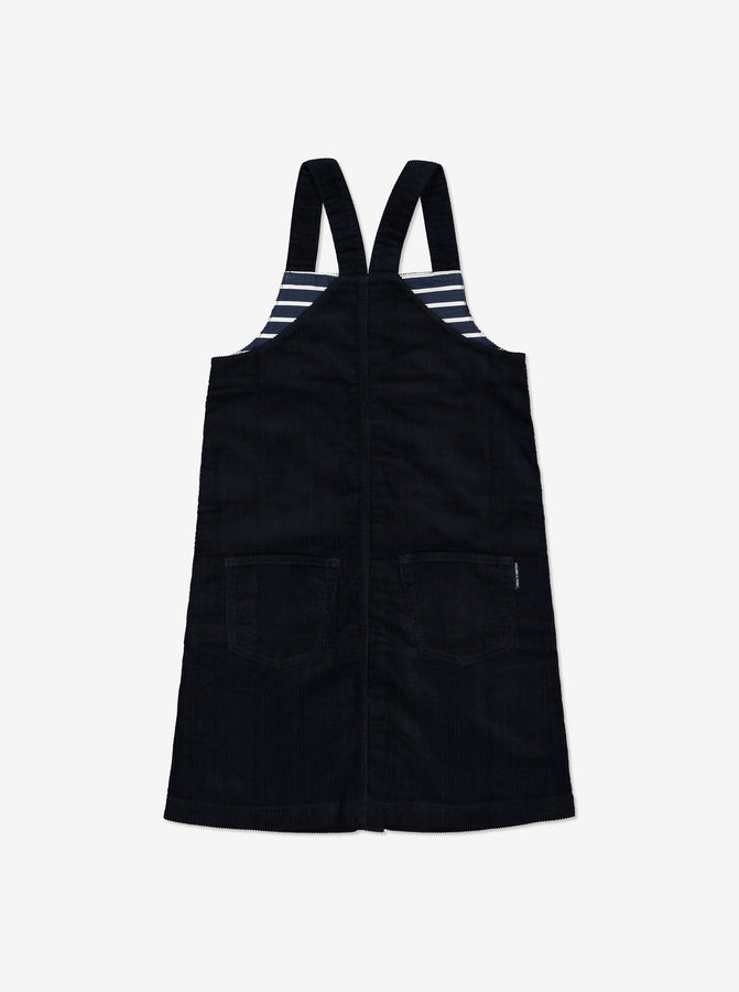 Corduroy Kids Pinafore Dress-Girl-6-12y-Navy