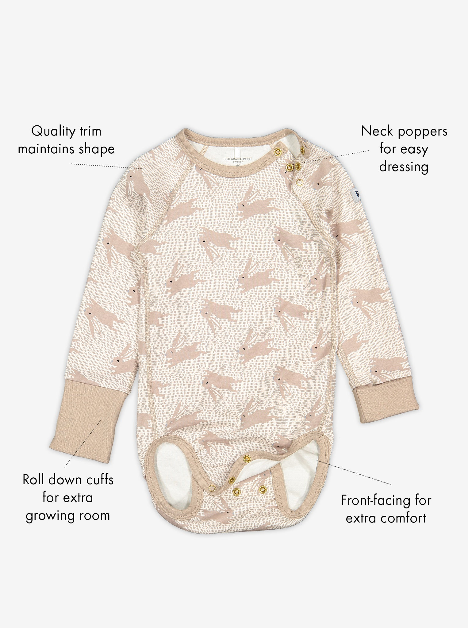 Rabbit Print Baby Bodysuit
