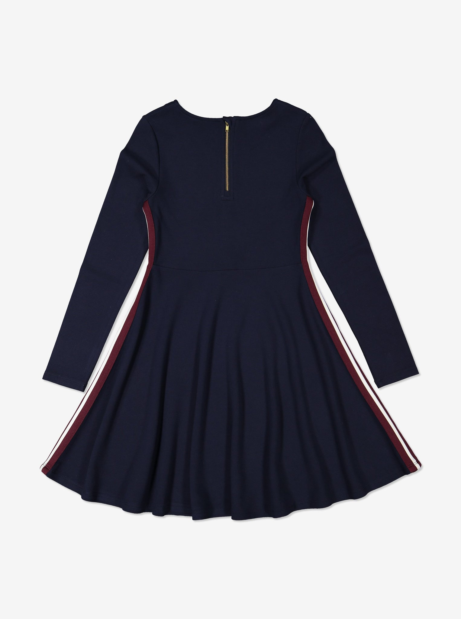 Side Stripe Kids Dress-Girl-6-12y-Navy