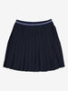 Pleated Kids Skirt-Unisex-6-12y-Navy