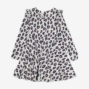 Leopard Print Kids Dress-Girl-6-12y-Grey