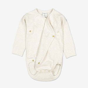 Ribbed Baby Wraparound Bodysuit-Unisex-0-6m-White