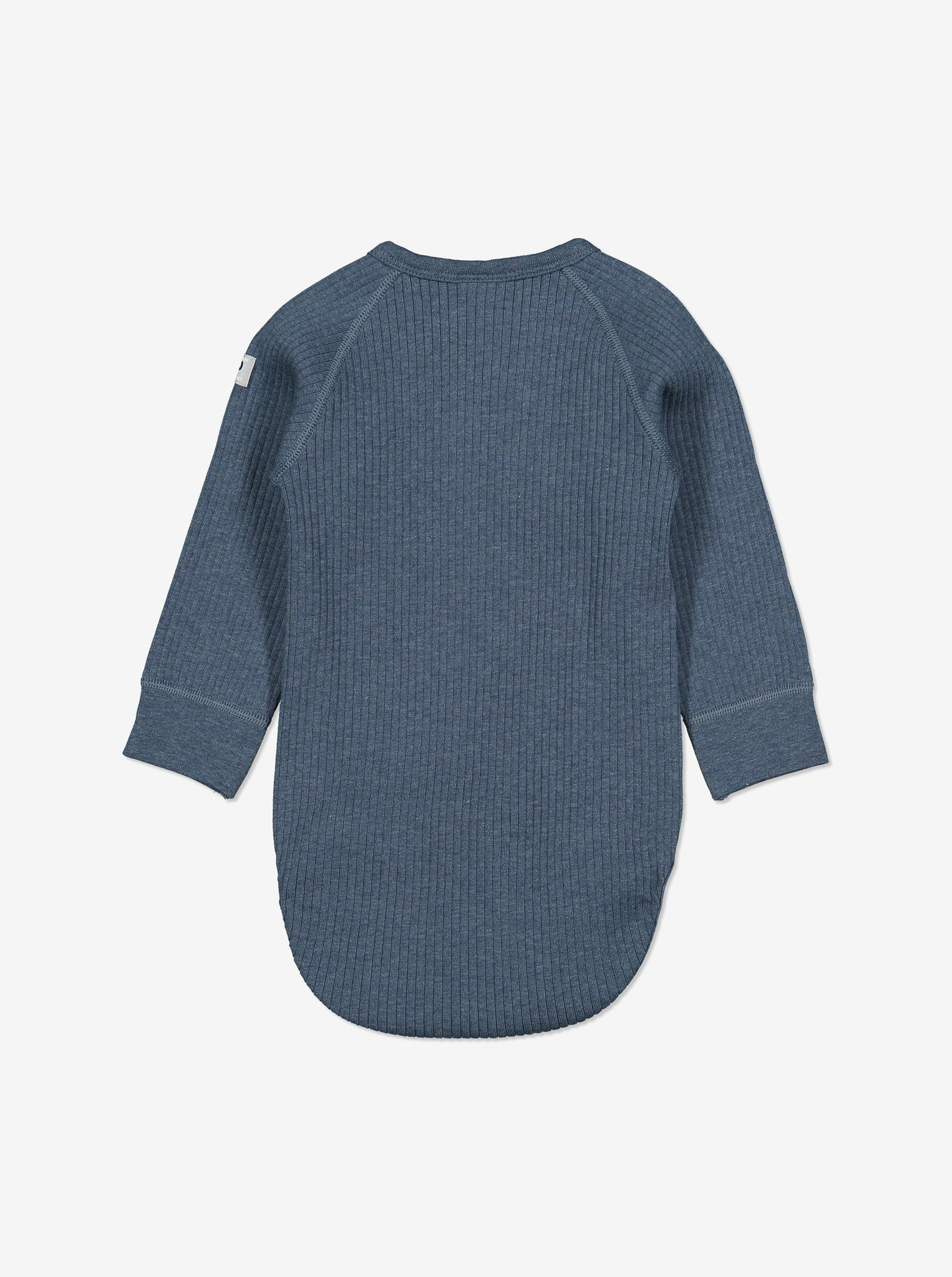 Ribbed Baby Wraparound Bodysuit-Unisex-0-6m-Blue