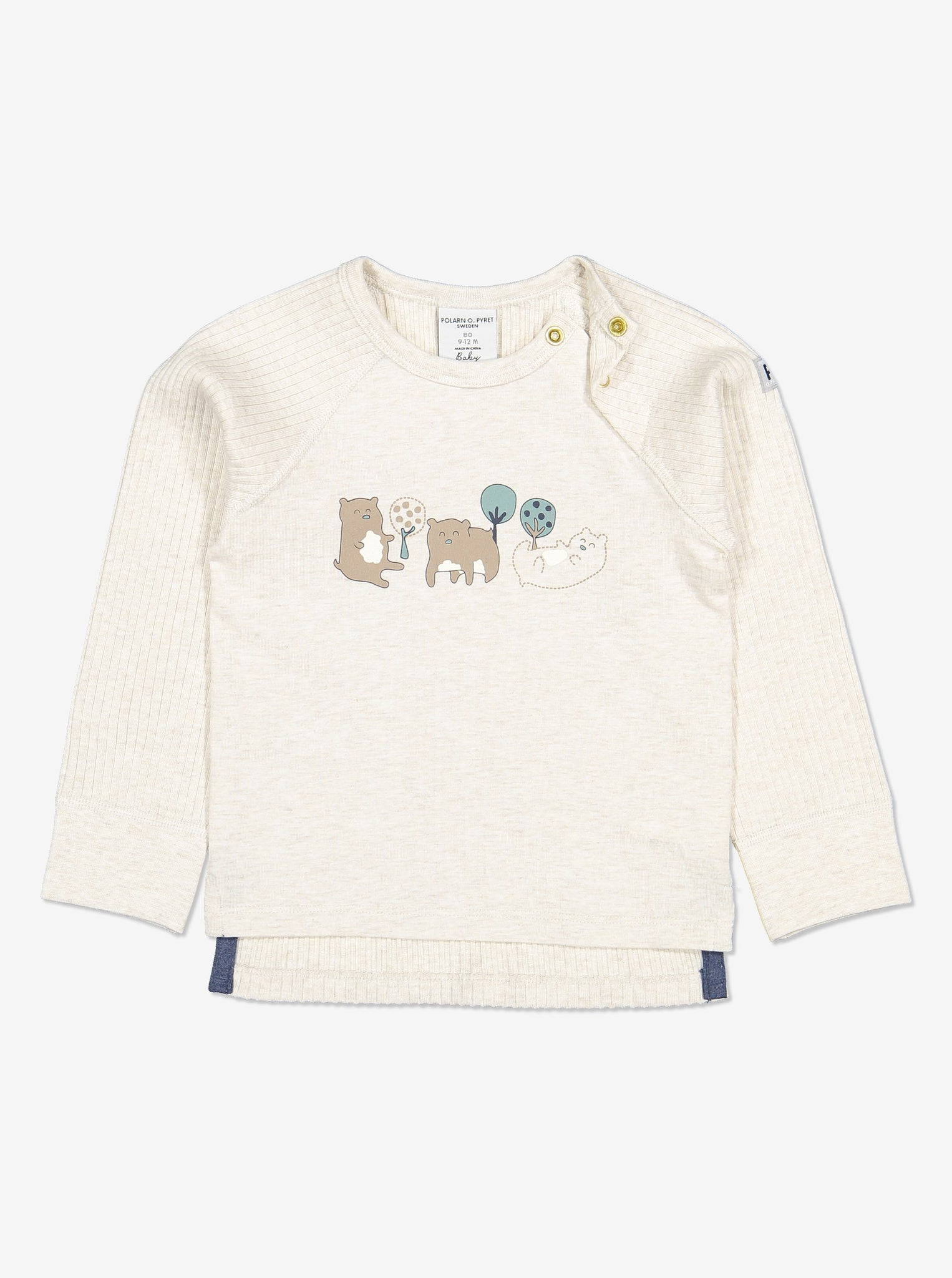 Ribbed Baby Top-Unisex-6m-1y-White