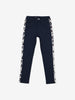 Side Stripe Kids Trousers-Unisex-6-12y-Navy