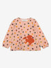 Squirrel Applique Kids Top-Girl-1-6y-Pink