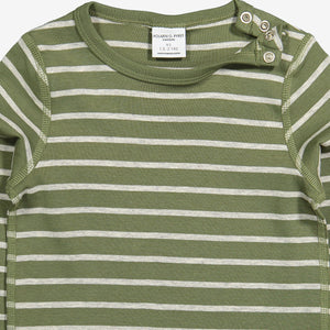 Striped Kids Top-Unisex-2m-6y-Green