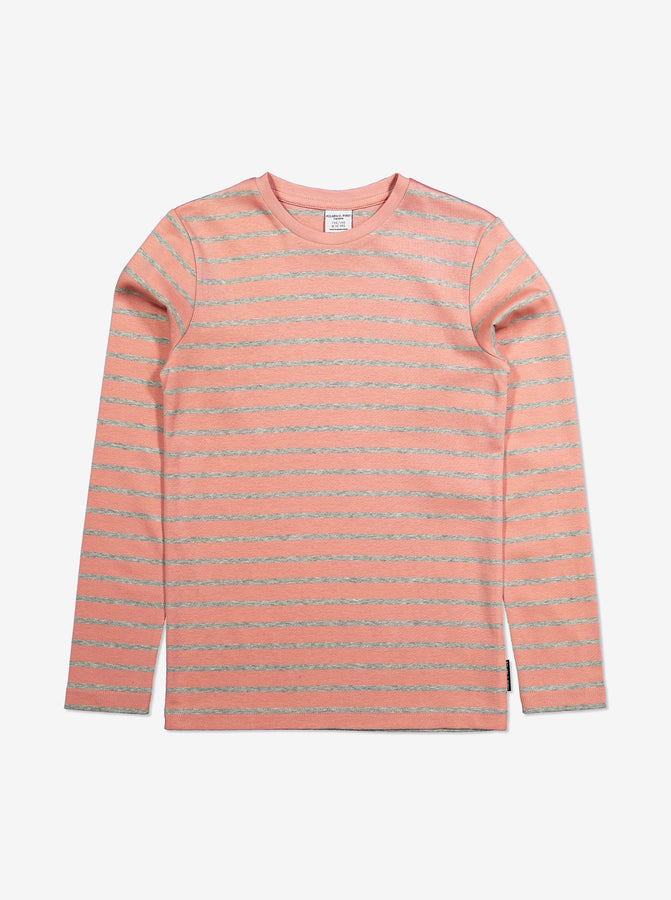 Striped Kids Top-Girl-6-12y-Pink