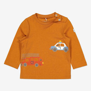 Organic Baby Top-Unisex-2m-1y-Brown