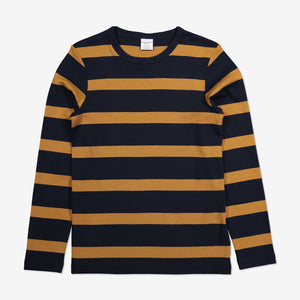 Block Stripe Kids Top-Unisex-1-12y-Brown