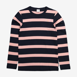 Block Stripe Kids Top-Girl-1-12y-Pink