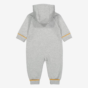 Pear Applique Baby All-in-one-Unisex-0-2y-Grey
