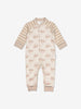 Rabbit Print Baby Romper-Unisex-0-1y-Brown