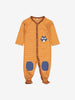 Fox Applique Baby Romper-Unisex-0-4m-Brown