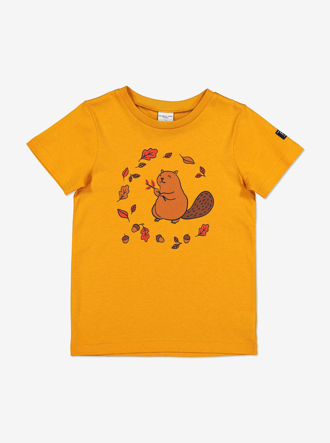 Organic Kid T-Shirt-Unisex-1-6y-Yellow