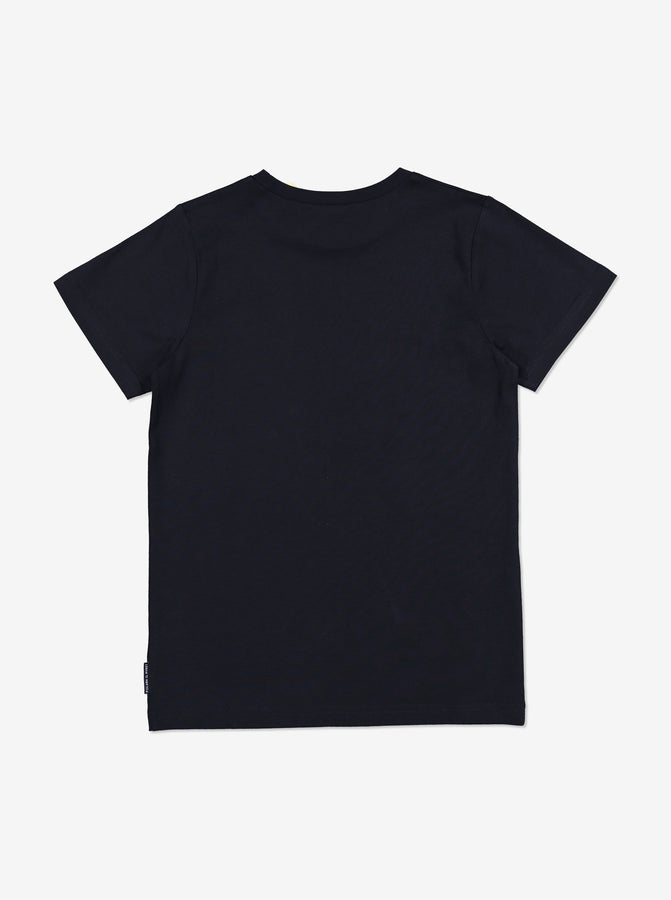 Organic Kid T-Shirt-Unisex-6-12y-Navy