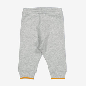Pear Knee Patch Baby Trousers-Unisex-0-1y-Grey