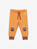 Paw Print Baby Trousers-Unisex-2m-1y-Brown