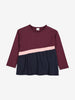 Block Colour Kids Top-Girl-1-6y-Purple