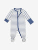 Striped Baby Onesie Pyjamas-Unisex-0-4y-Blue