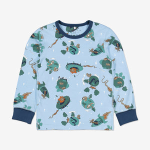 Space Print Kids Pyjamas-Unisex-1-12y-Blue