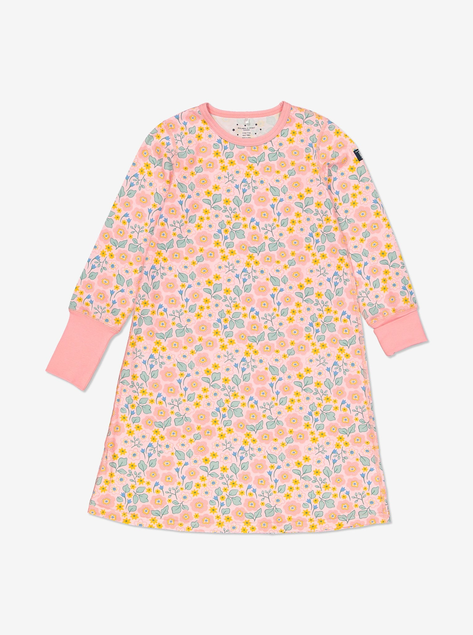 Floral Kids Nightdress-Girl-1-12y-Pink