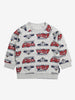 Vehicle Print Kids Sweatshirt-Unisex-1-6y-Grey