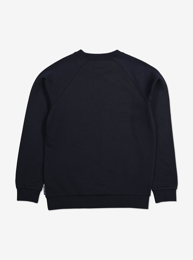 Navy Kids Sweatshirt-Unisex-6-12y-Navy