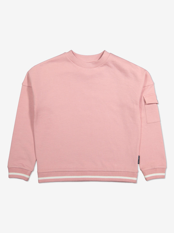 Kids Organic Cotton Pink Jumper